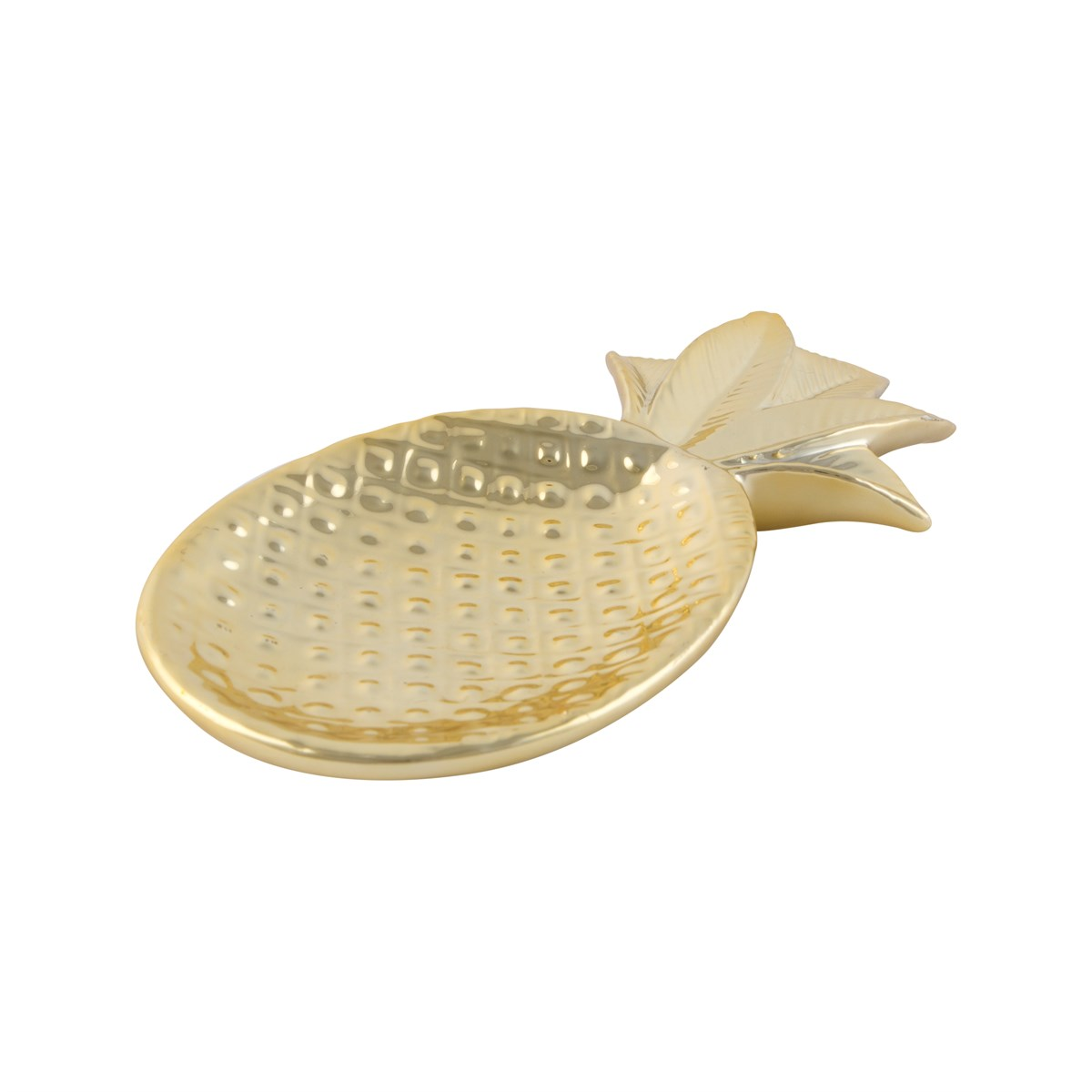 golden pineapple gifts, tropical good quality gifts, pineapple trinket dish