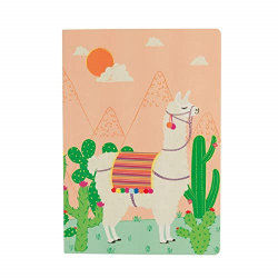 llama notebook A5 by sass and belle - llama stationery independant shops the costume rooms