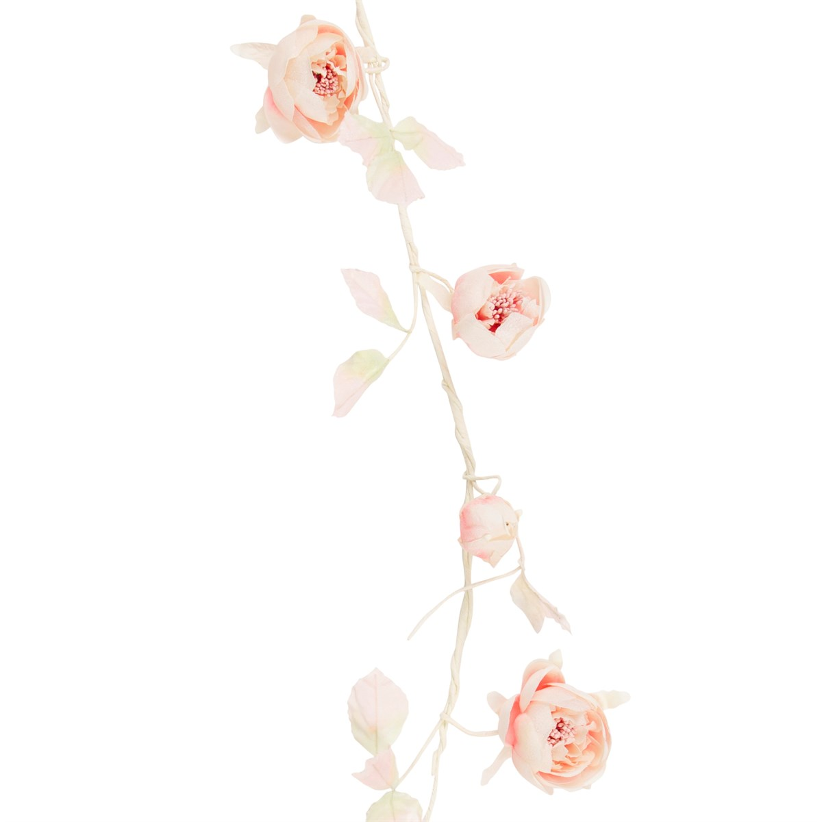 peonies garland in pale pink, soft pink flowery garland