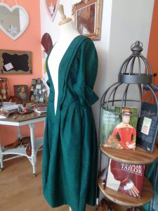 historical costume themed gifts, period costume display, the costume rooms in bude - what is it, sewing themed stationery, historical shops