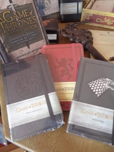 game of thrones stationery in bude, onlien game of thrones stationery, house of stark, house of lannister, game of thrones notebooks