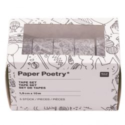 patterned sellotapes online, pretty sticky tapes for sale - the costume rooms -bude, colouring in range by paper poetry