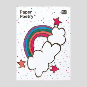 rainbow sticky notes, rainbow and cloud sticky notes - online, online sticky notes for sale, magical summer by paper poetry at The Costume Rooms in Bude, stationery shops in bude