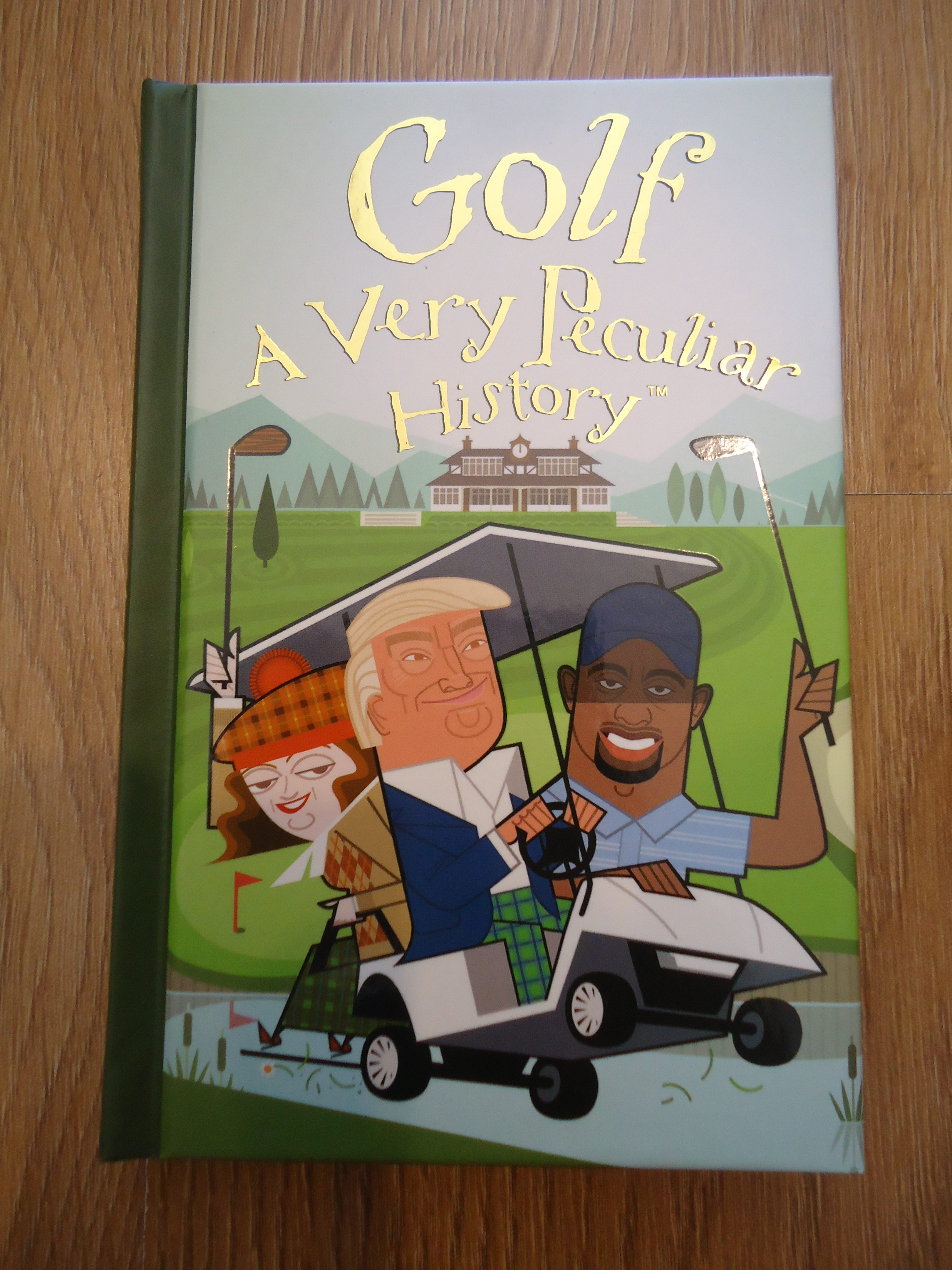 Golf, A very peculiar History, children's books, quirky books, pocket size books