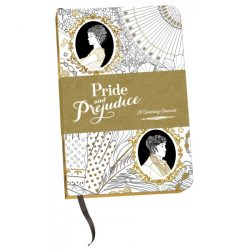 pride and prejudice colouring in journal, pride and prejudice journal, colouring in journals, ideas for jane austen fans, jane austen themed gifts
