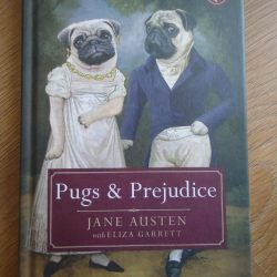 pugs and prejudice hardback book for sale, crafts books for sale, history books for sale, jane austen fan literature, fun variation of pride and prejudice, the costume roms in bude,, gift shops in bude, book shops in north conrwall