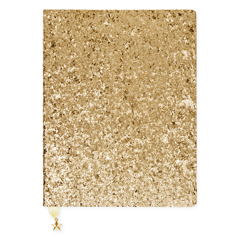 Large Journals for sale, gold notebooks, notebooks online, sequined notebooks