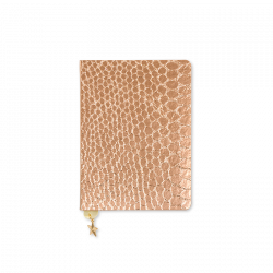 rose gold notebooks, rose copper sequins