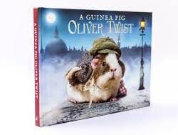 Oliver Twist guinea pig book, guinea pigs in costume, dickens fans gift ideas, oliver twist books