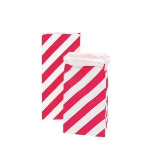sack bag for christmas gifts, gift bag ideas, pink striped strong bags, paper bags at the costume room