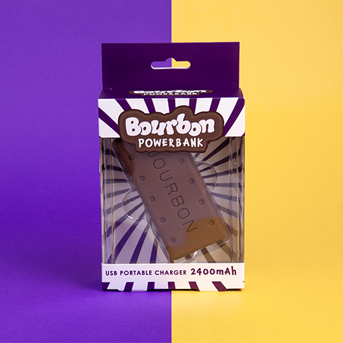 Box gift set bourbon biscuits power bank