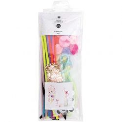 pretty pinks childrens craft pack - piper cleaners and pompoms