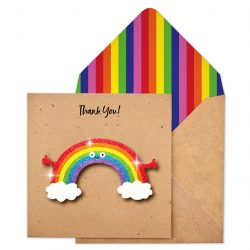 Glitter rainbow card by Tache