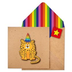 Cheetah fun card - tache - the costume rooms