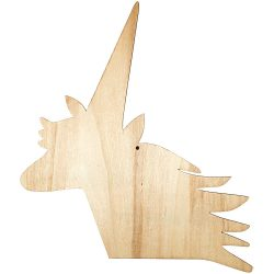 wooden cut out shapes for children to decorate - unicorn