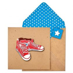 cards ideal for teenagers - Glitter trainers