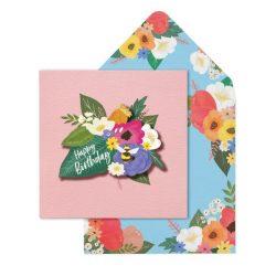 happy birthday vintage flower designs - really pretty cards online