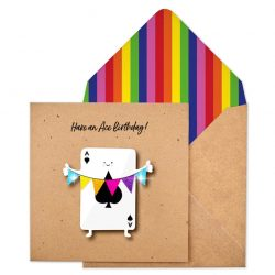 Funky Ace card birthday cards by tache