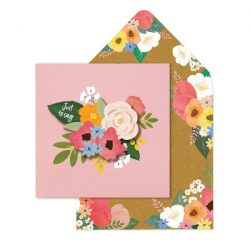 just to say - sympathy cards - thank you cards - floral range
