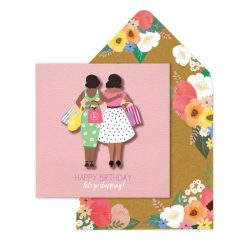 besties shopping floral card - lashes by tache online
