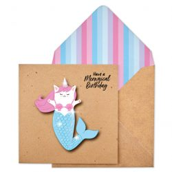 Cati-corn Mermaid Glitter card
