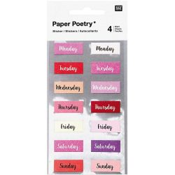 days of the week stickers by paper poetry