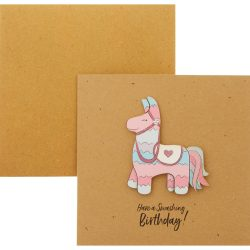 horse glitter childrens card