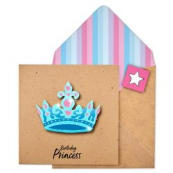 glitter crown princess card by Tache