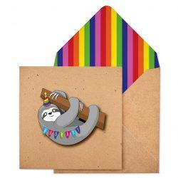 sloth tache cards - no stick