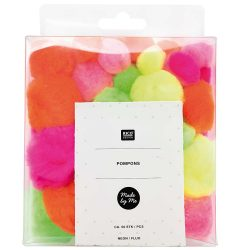pack of neon fluffy pompoms at The Costume Rooms