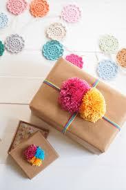 Gift Wrapping pom pom ideas online