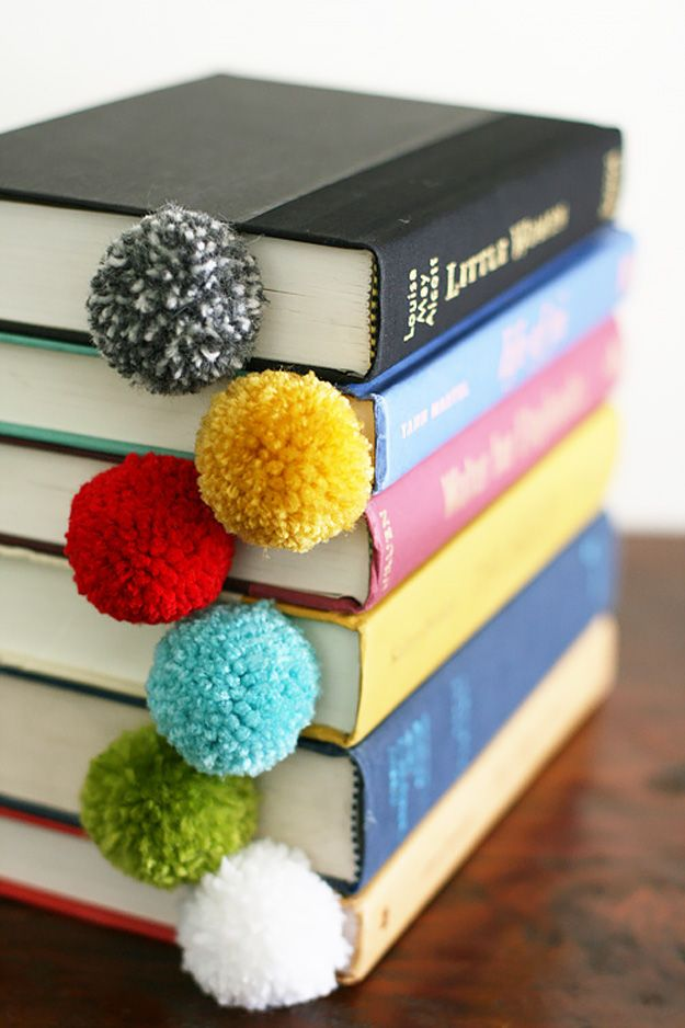Make your own Pom pom bookmarks -crafting ideas at The Costume Rooms