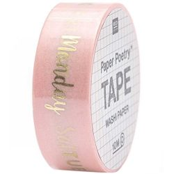 days of the week gold foil washi tape