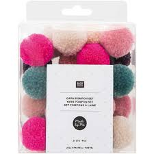 jolly Christmas Pastel pom pom packs - the costume rooms