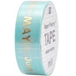 days of the month written gold foil washi tape - online crafts shops