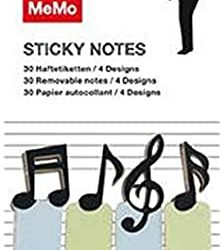 musical notes page tabs and sticky notes - the costume room gift ideas