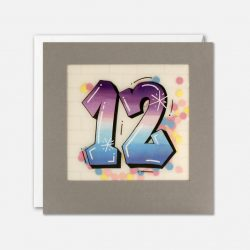 aged 12 birthday cards - eco friednly online cards - the costume rooms stocks james ellis cards