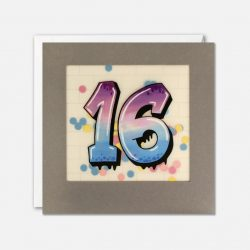graffiti 16 years old birthday cards - james ellis online stockist