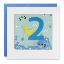 Blue age 2 birthday card - james ellis online cards