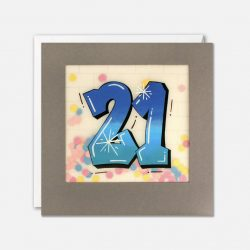 happy 21st birthday cards - teenager grafiti style biirthday cards