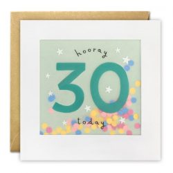 happy 30th birthday card - paper shaky