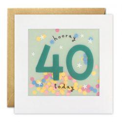 40th paper confetti cards - James Ellis online