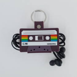 cable tidy gift ideas - cassette retro cable tidy design - online tech accessories