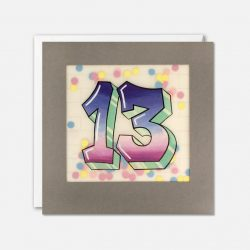 birthday 13 cards - grafiti recyclable birthday cards
