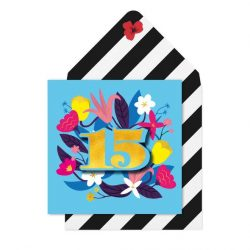 15 years old birthday cards - modern gypsy style cards - tache online