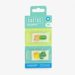 Cactus stationery - page tabs online
