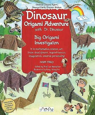 things to do on a rainy day - craft activities for children - dinosaur origami book