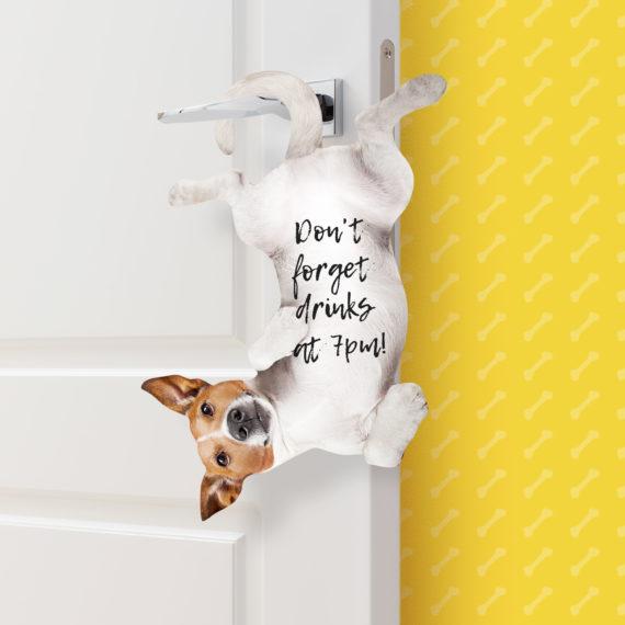 dog hanging sticky notes large - funky stationery shops online