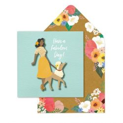 funky cintage dog lover cards - with the most beautiful envelopes