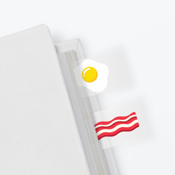 fry up page tabs - fun stationery ideas online